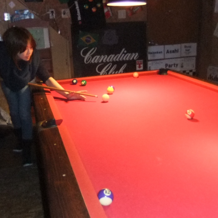 Bong Bar's pool table