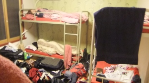 The mess we made in the dormitory - I feel sorry for the other people