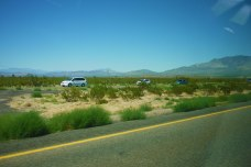 In the desert on the way to Las Vegas