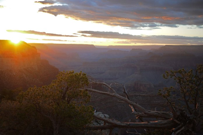 Sunset view of the Grand Canyon
