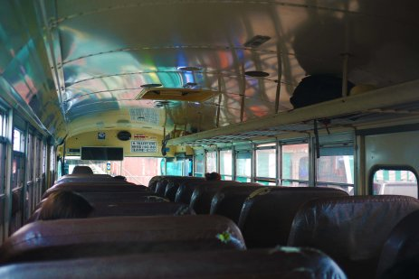Public bus to the Mexican border