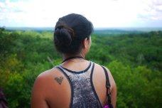 Taking in the beautiful views in Tikal