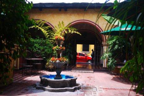 A courtyard in a fancy restaurant, Antigua