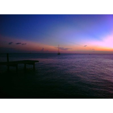 Sunset from West End, Roatan Island