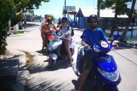 The biker gang, Roatan Island
