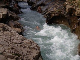 Jumping into River Canyons, Boquete, Panama