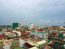 Roof-top view of Phnom Penh, Cambodia