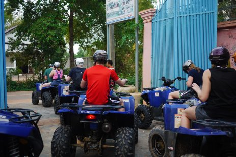 Quad biking through the villages, Siem Reap, Cambodia