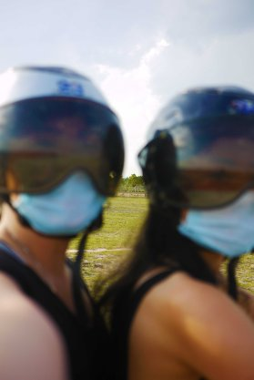 When you try to take a selfie whilst on a quad bike...
