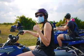 Quad biking through the villages, Siem Reap, Cambodia