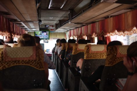 Public Cambodian bus from Siem Reap to Phnom Penh