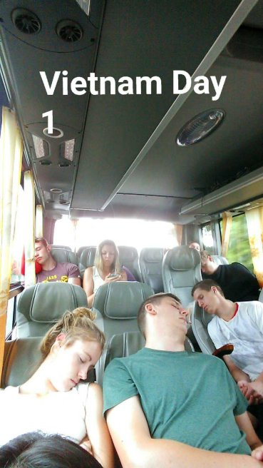 9 hour bus ride from Sihanoukville, Cambodia to Can Tho, Vietnam