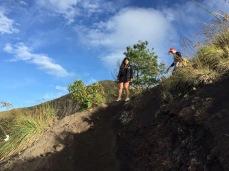 Coming down Mt Batur