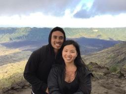 Monkey stop at Mt Batur